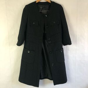 Mango Textured Trench Dress Coat / Suit Jacket